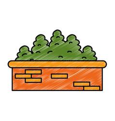 Garden shrub construction icon vector