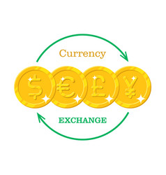 gold money currency exchange vector image vector image