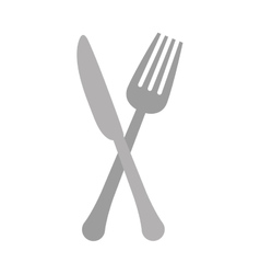 Gray knife and fork icon design vector