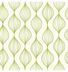Green vertical ogee seamless pattern background vector image vector image