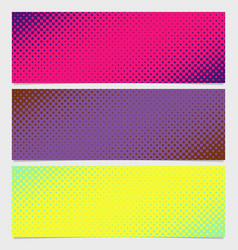 halftone square pattern horizontal banner set vector image