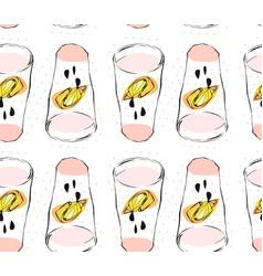 hand drawn abstract creative funny lemonade vector image vector image