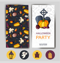 happy halloween card design for holiday vector image vector image