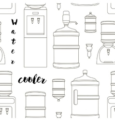 Icons for water cooler appliance pattern vector