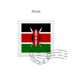 Kenya flag postage stamp vector