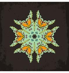 mandala Mehndi lace tattoo Oriental weave vector image vector image