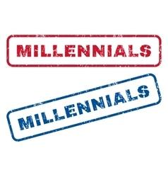 Millennials rubber stamps vector
