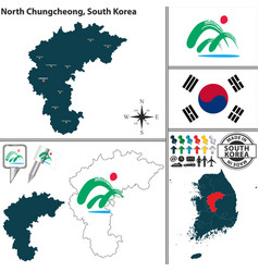 north chungcheong province south korea vector image vector image