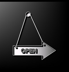 Open sign gray 3d printed vector