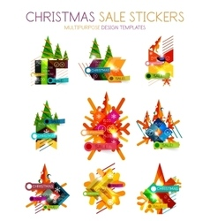Paper Christmas and New Year banner vector image