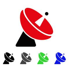 Radio telescope flat icon vector