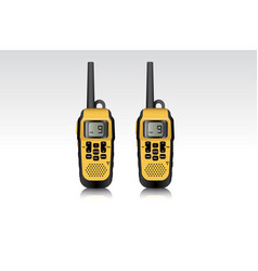 Realistic walkie talkie waterproof devices vector