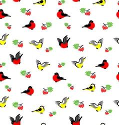 winter birds pattern vector image