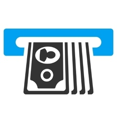 ATM Insert Cash Flat Icon vector image