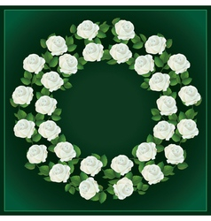 Ornament of white roses element for design vector image