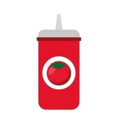 Ketchup bottle isolated icon vector