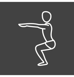 Chair pose straight arms vector