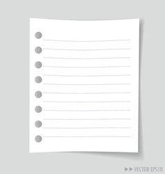 Empty white note paper vector