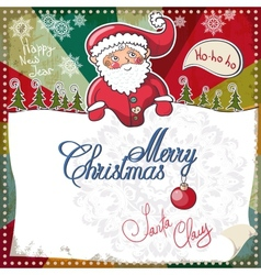 Christmas Card Merry Christmas lettering EPS 10 vector image