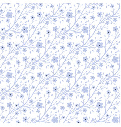 Tiny flowers pattern vintage seamless pattern for vector