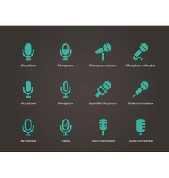 Microphone icons vector