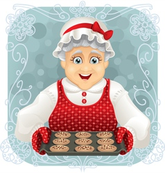 Granny baked some cookies vector