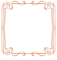 Frame element for design in retro style vector