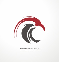 Eagle symbol template vector image