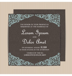 Invitation card dark vector