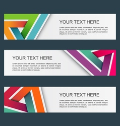 Abstract banners set eps10 vector