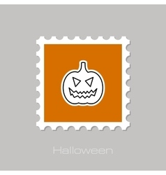 Halloween pumpkins stamp vector