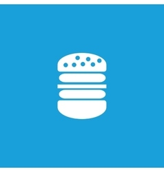 Big burger icon white vector