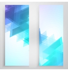 Banners and triangles vector
