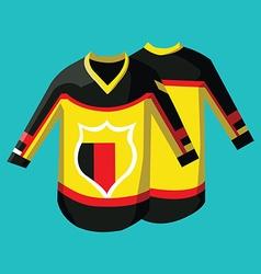 Hockey sportswear pullover vector