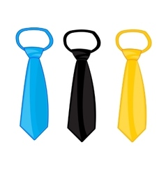 Three ties on white vector