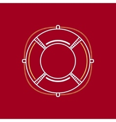 Lifebuoy line style design vector