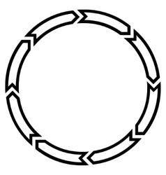 Rotation Circle Thin Line Icon vector image