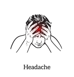 Concept headache sketch vector