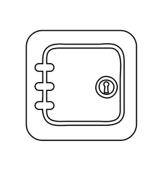 Heavy box isolated icon design vector