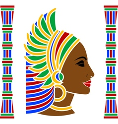 African woman profile vector