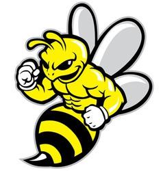 Bee mascot vector