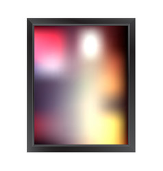 blurred background with frame vector image
