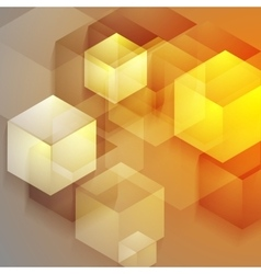 Bright tech geometric background with cubes vector