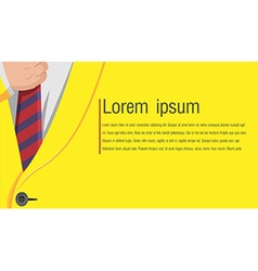 Business Yellow Suit Background Style vector image vector image