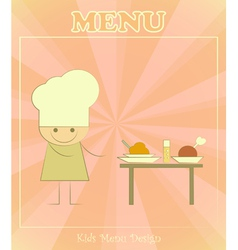 Chefs and served table vector image vector image