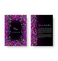 cover catalog with shiny confetti vector image vector image