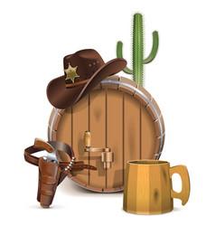 Cowboy Bar Concept vector image vector image
