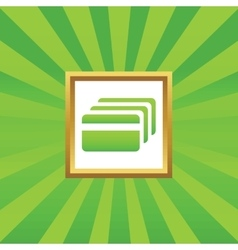 Credit card picture icon vector
