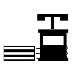 Dynamite icon simple style vector