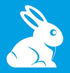 Easter bunny icon white vector